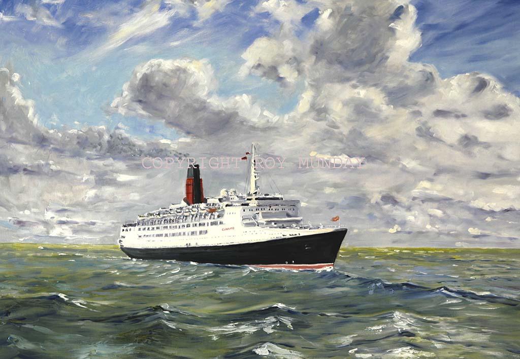 QE2, buy painting, paintings, of liverpool, albert dock, river mersey, merseyside