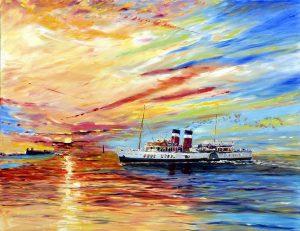 ss waverley, waverley steam ship, oldest steam ship, liverpool, mersey, river