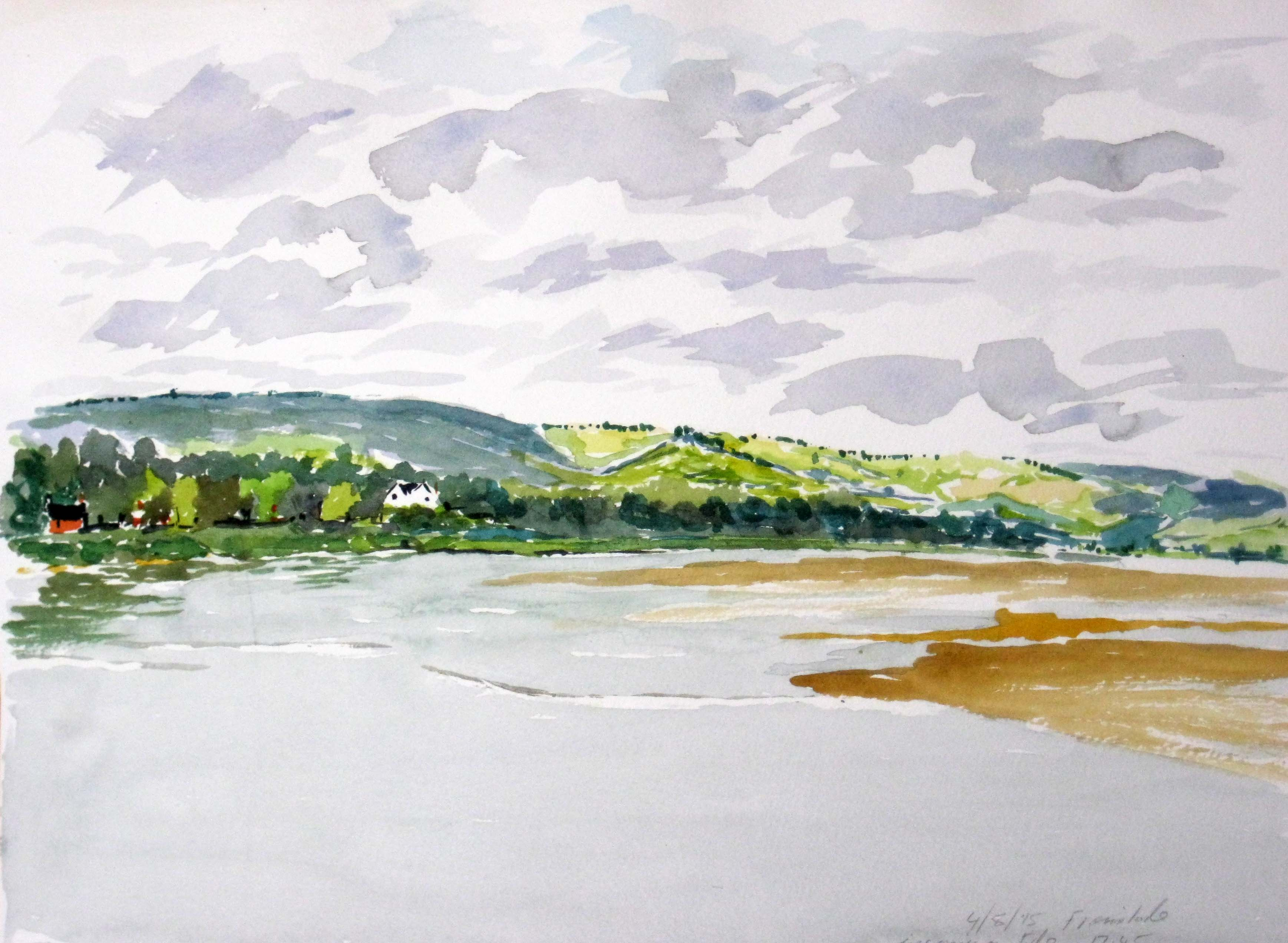 buy paintings of gloucestershire, river severn, framilode, severn tide, severn bore